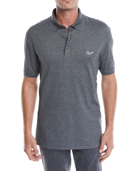 Ermenegildo Zegna Men's Logo Short-Sleeve Polo