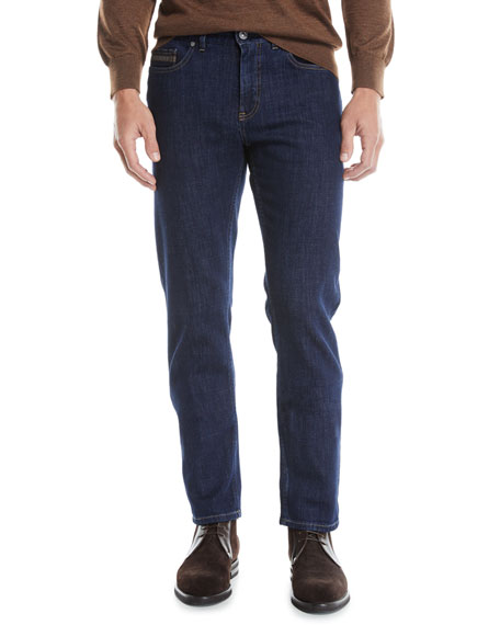 Ermenegildo Zegna Men's Luxe Straight-Leg Denim Jeans