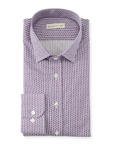 Men's Geometric Diamond Dress Shirt