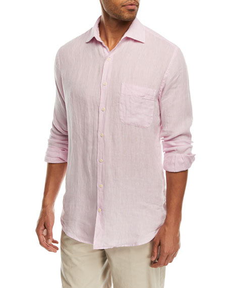 Peter Millar Crown Cool Woven Linen Shirt