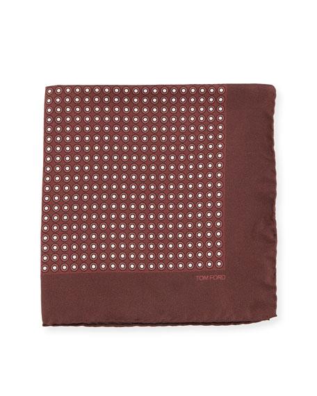 Neat Dot Silk Twill Pocket Square