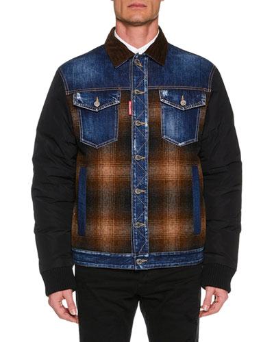 Men's Colorblock Bomber Jacket