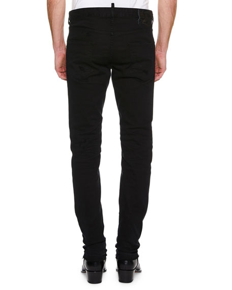 Men's Cool Guy Distressed Slim-Fit Jeans