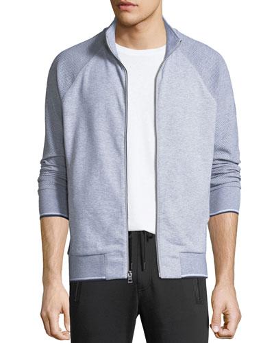 Men's Textured Zip-Front Raglan Jacket