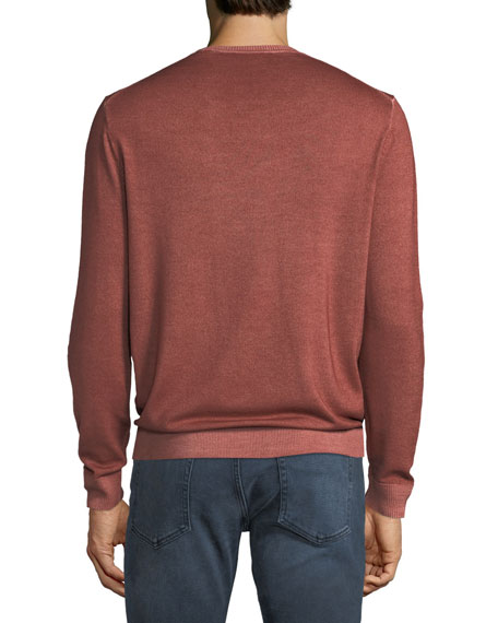 Men's Washed Merino Crewneck Sweater
