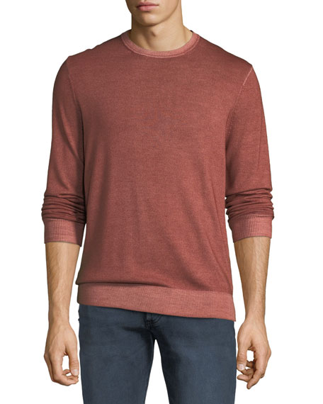 Michael Kors Men's Washed Merino Crewneck Sweater