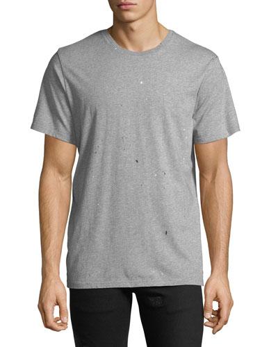 Men's Splattered Crewneck T-Shirt