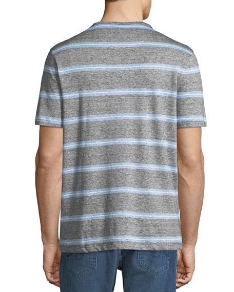 Men's Striped Linen-Blend T-Shirt