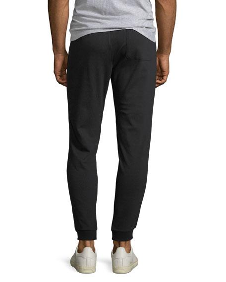 Men's Jogger Sweatpants w/ Leather Trim