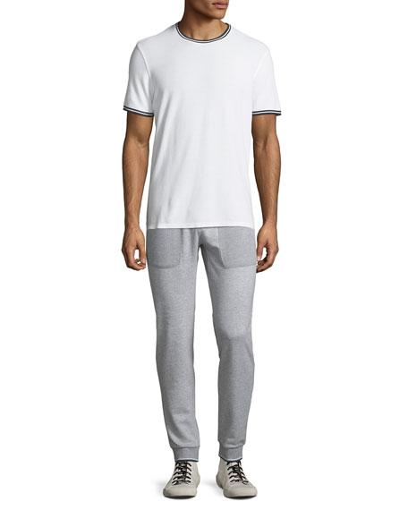 Men's Textured Cotton Sweatpants