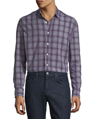 Men's Lyocell Plaid Sport Shirt