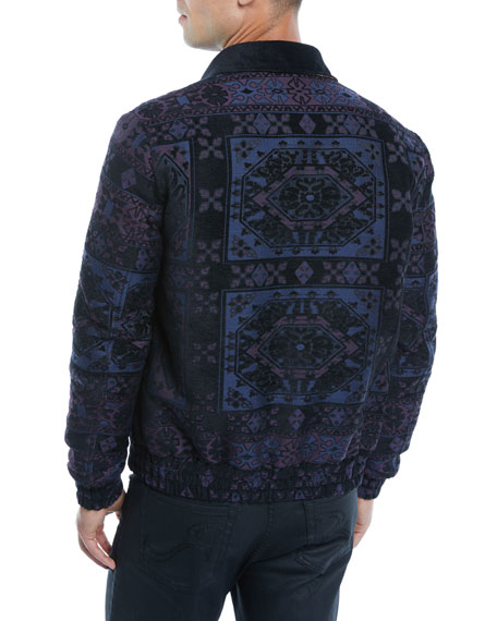 Men's Wool Bomber Jacket