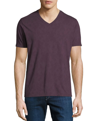 Men's Tonal Paisley V-Neck T-Shirt