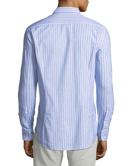 Men's Chenille Striped Sport Shirt