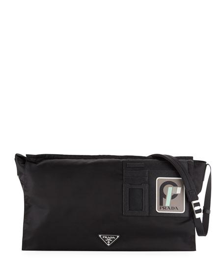 Prada Men's Tessuto Soft Messenger Bag