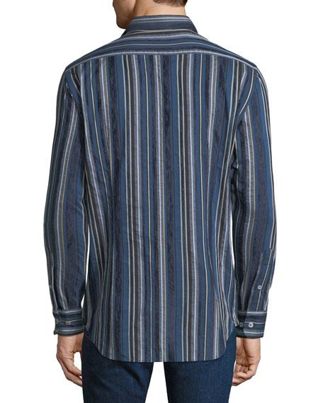 Men's Striped Cotton Sport Shirt