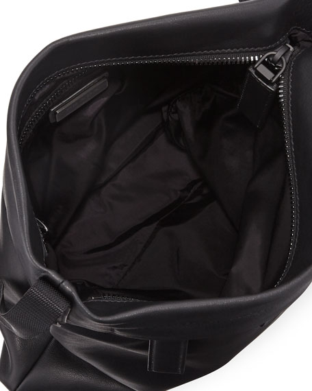 new lower prices multiple colors customers first Men'S Large Smooth Leather Crossbody Bag in Black
