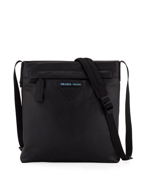 Prada Men's Large Smooth Leather Crossbody Bag