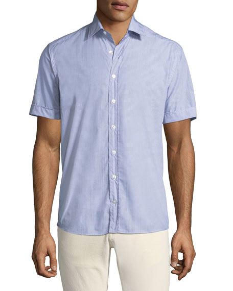 Etro Men's Geometric Print Button-Down Shirt