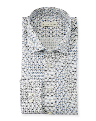 Men's Diamond Dots Sport Shirt