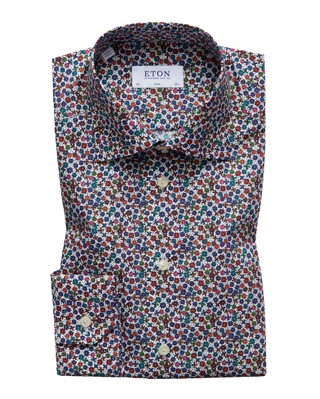 6e31af153ff3 Eton Men s Slim Fit Floral Print Dress Shirt