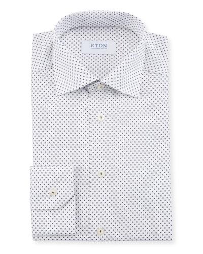 Men's Neat-Print Slim-Fit Dress Shirt