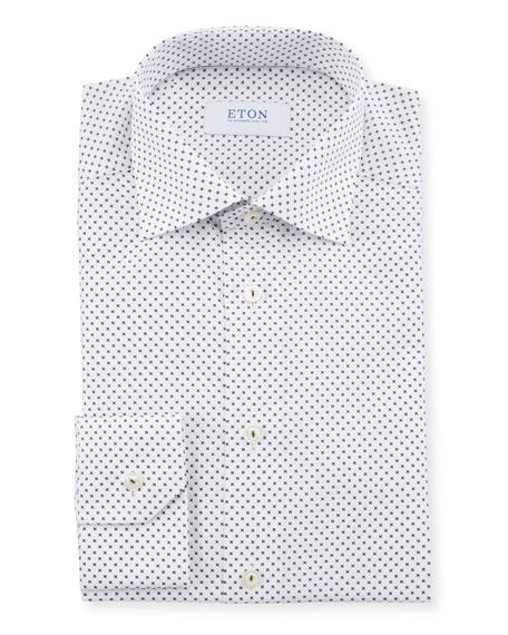 Eton Men's Neat-Print Slim-Fit Dress Shirt