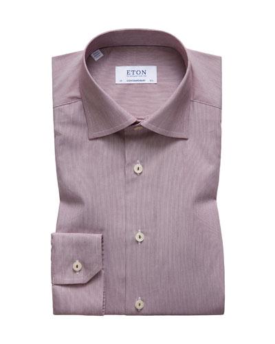 Men's Hairline Stripe Contemporary-Fit Dress Shirt