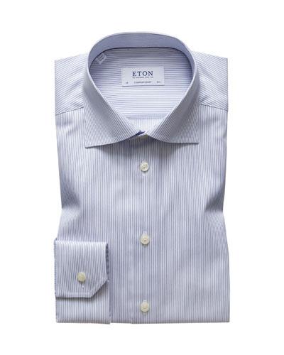 Men's Striped Contemporary-Fit Dress Shirt