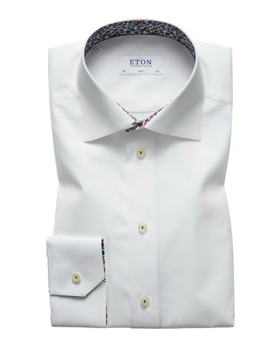 Men's Slim Fit Poplin Dress Shirt
