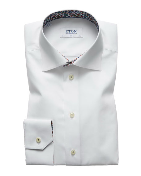 Eton Men's Slim Fit Poplin Dress Shirt