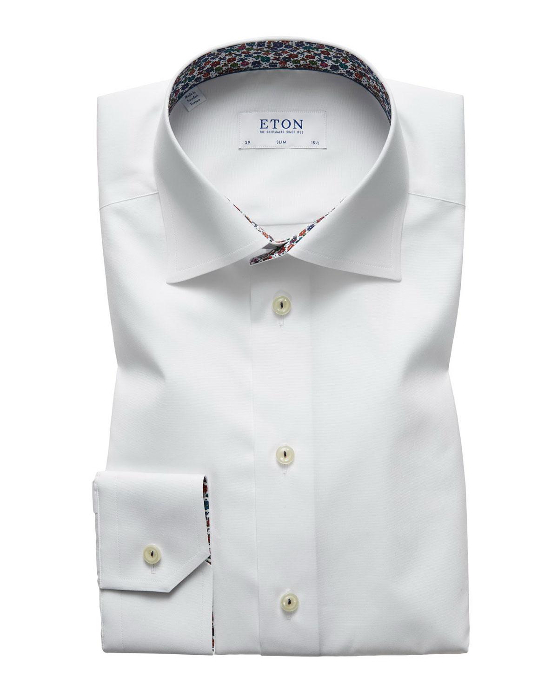 Eton Mens Slim Fit Poplin Dress Shirt Neiman Marcus