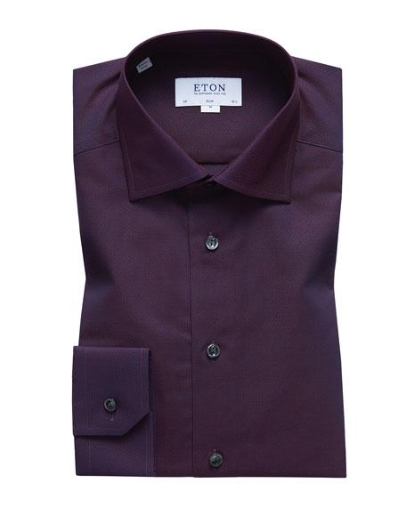 Eton Men's Slim-Fit Solid Egyptian Cotton Dress Shirt