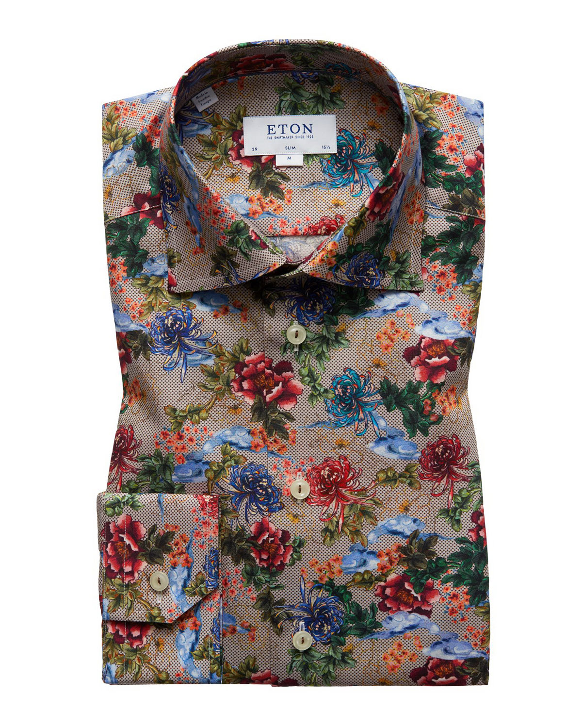 Wedding Gift Stores Nyc: Eton Men's Slim-Fit Floral-Print Dress Shirt