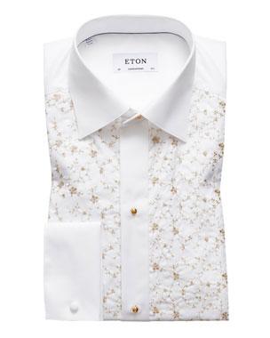 529131948ff2 Eton Men s Contemporary Fit Floral-Detail Formal Dress Shirt