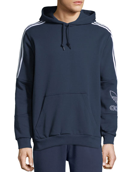 Adidas Men's Outline Graphic Logo Hoodie