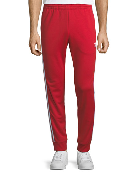 Adidas Men's SST Contrast-Striped Sweatpants