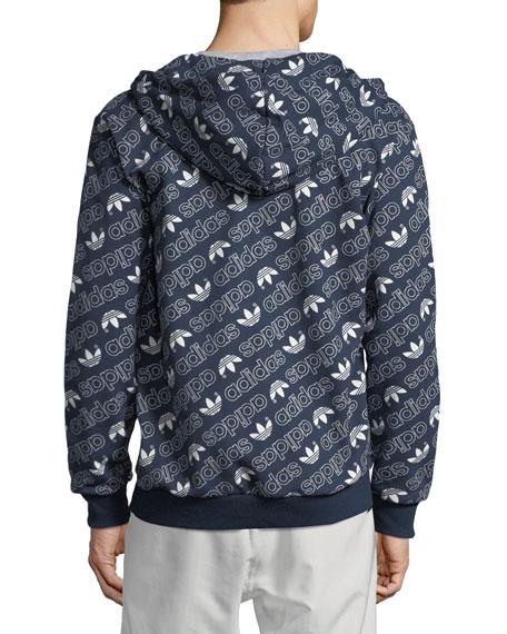 Men's Zip-Front Logo Graphic Hoodie