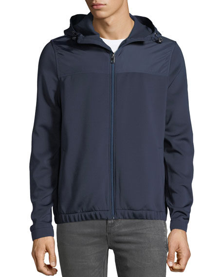 Men's Sporty Scuba Zip-Front Hoodie Jacket