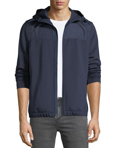 Men's Sporty Scuba Zip-Front Hoodie Jacket