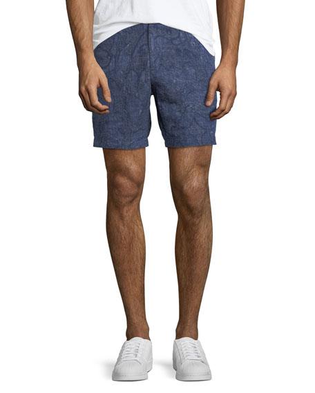 Men's Printed Linen Shorts