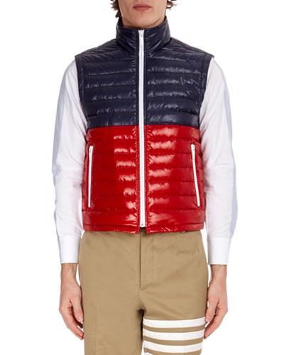 Men's Bi-Color Quilted Down Vest
