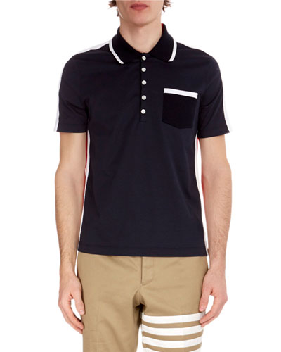 Men's Bi-Color Cotton Polo Shirt