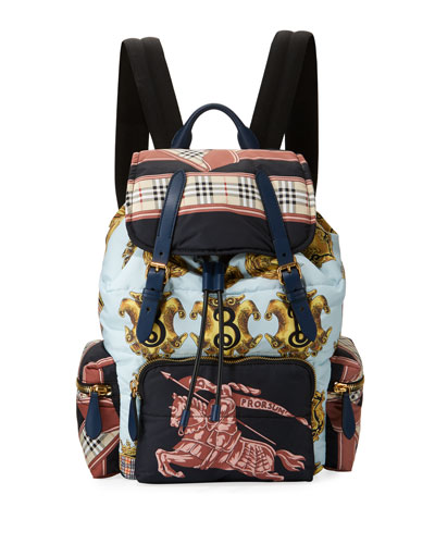 Men's Archive Scarf-Print Rucksack Backpack