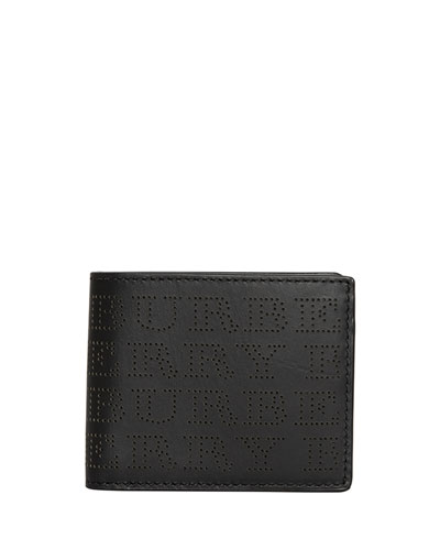 Men's Perforated Logo Leather Wallet