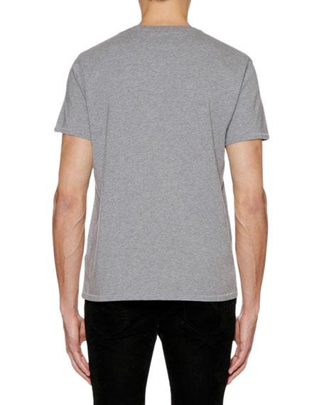 Men's Skull-Graphic Crewneck Short-Sleeve Cotton T-Shirt