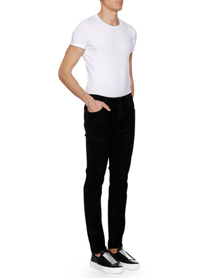 Men's Solid Corduroy Straight-Leg Pants