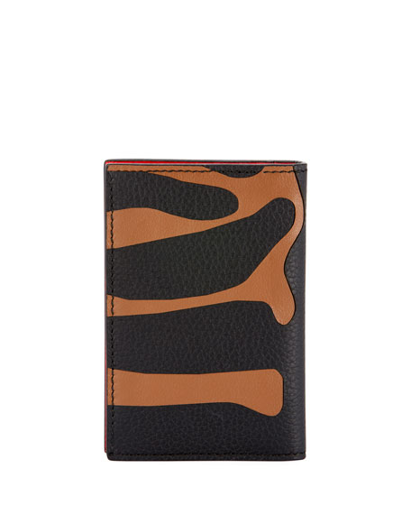 Men's Animal-Print Leather Pocket Organizer Wallet