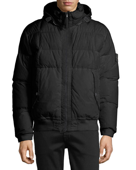 Men's Down Bomber Puffer Jacket