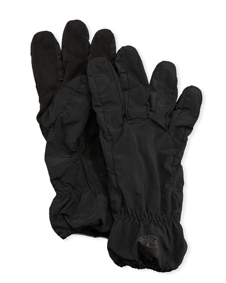 Men'S Faux-Suede Gloves, Black